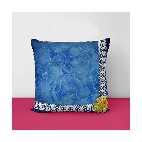51RHZyk2E3L Blue Designs Printed Square Cushion Cover