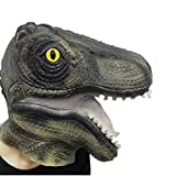 SURPCOS Latex Animal T-rex Dinosaur Mask, Novelty Halloween Costume Mask Party Decorations, Halloween Props, Halloween Supplies(Dinosaur)