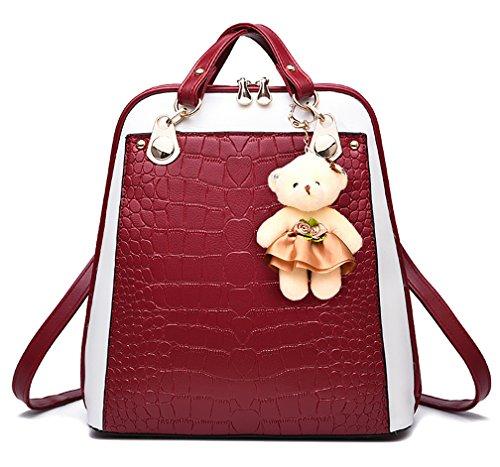 Respeedime - Backpack Bag Blue Medium Blue Woman Red-beige