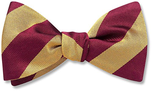 Collegiate Maroon and Gold Bow Tie, Beau Ties Ltd of Vermont