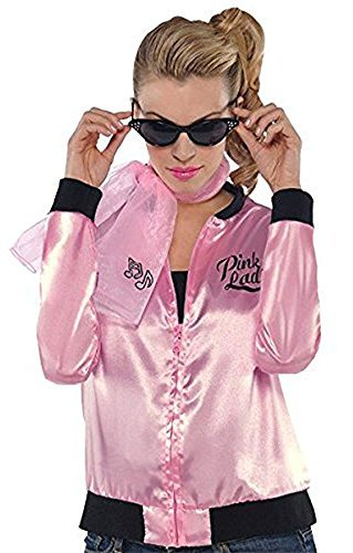 Fabulous '50s Costume Party Ladies Jacket - Adult Standard, Pink, Polyester, ()