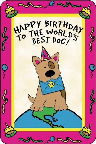 Crunchkins Edible Crunch Card, Birthday, World's Best Dog, My Pet Supplies