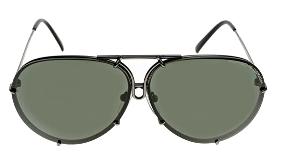 9ea322f10ea Porsche Design Titanium Sunglasses P8478 C 69mm Grey Matte - Unisex - Extra  Lenses at Amazon Men s Clothing store