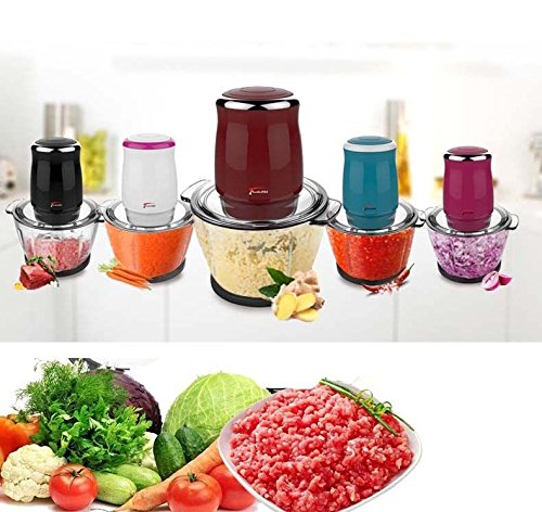 TOPCHANCES Household Mini Electric Meat Grinder 500W Multi-function Automatic Quick Mince Mini Stainless Steel Meats Mincer Vegetable Fruit Mixer Chopper Food Grinding Mincing Mach- 220V by TOPCHANCES (Image #4)