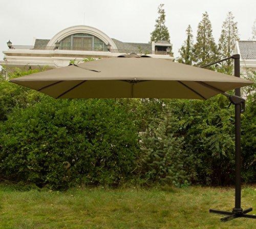 Snail 10 x 10 square offset cantilever patio umbrella with for 98 degrees tanning salon