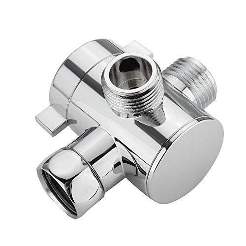 Gornorriss Home & Garden Products 1/2 Inch Three Way T-Adapter Valve for Toilet Bidet Shower Head Diverter Valve