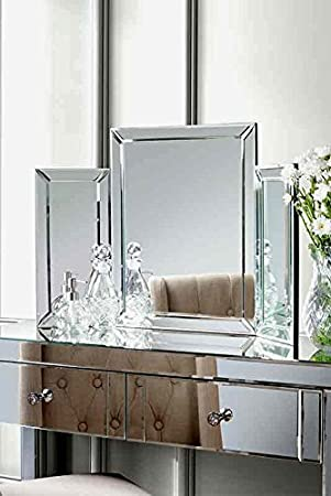 dressing table bedroom furniture triple folding mirror. Black Bedroom Furniture Sets. Home Design Ideas