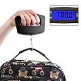 Black LED Digital 50Kg/10g Fish Hook Hanging Electronic Weighting Luggage Scales Mini Digital Hand Held Hook Hanging Scale