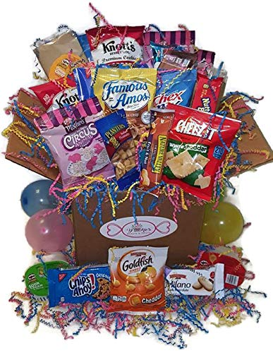 Yokie's Sweets & Treats Party In A Box Variety Snack Care Package Gift Box, (40 Count) -