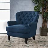 Christopher Knight Home 299873 Tafton Arm Chair, Dark Blue For Sale