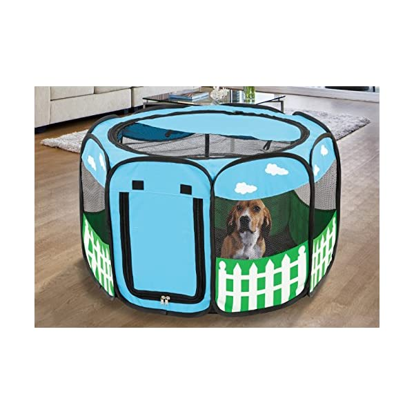 (Large) – Pet Portable Foldable Play Pen Exercise Kennel Dogs Cats Indoor/outdoor Tent For Click on image for further info. 3