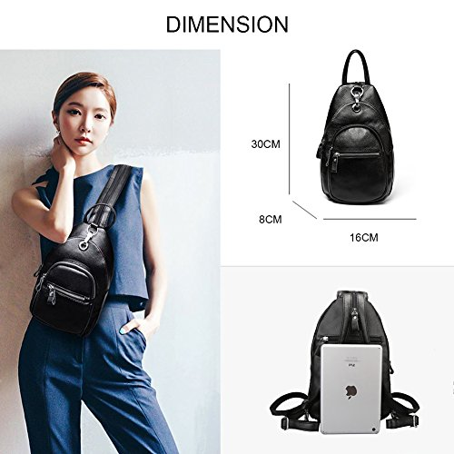 Yoome Crossbody Rucksack Theft Purse Blue Backpack Shoulder Royal Leather Women Bag Ladies Anti Litchi Stria qx4Uqrv