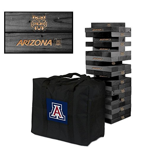 NCAA Arizona Wildcats 850391Arizona Wildcats Onyx Stained Giant Wooden Tumble Tower Game, Multicolor, One Size by Victory Tailgate
