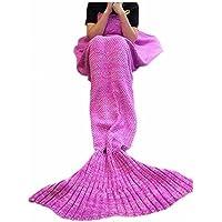 FYHAP Mermaid Blanket, Mermaid Tail Blanket Soft All...