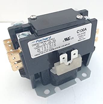 Packard Contactor C130A 1 Pole 30 Amps 24 Coil Voltage