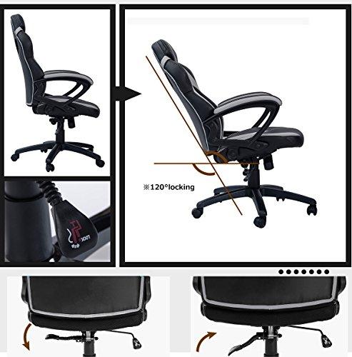 Merax Ergonomic Gaming Chair Racing Style Computer Desk