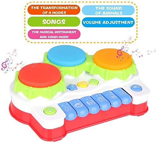 Contiene un Peque/ño Xil/ófono GoStock Juguete Musical del Beb/é para Ni/ños y Ni/ñas Instrumento Musical con Teclado y Bater/ía Ni/ños 1 2 3 A/ños