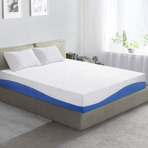 PrimaSleep Wave Gel Infused Memory Foam Mattress, 10