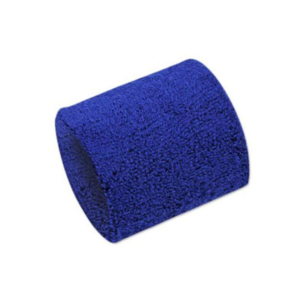 Fliyeong Towel wristbands Exercise Supplies Towel to Protect Wrist Material Wrist Band Short Type to absorb Sweat Blue