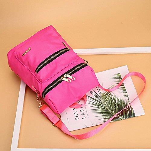 Elegant Handbags Casual School Domybest Travel Women Nylon Shoulder Watermelon Zipper Backpacks Red qanwzdxF