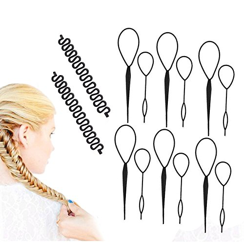 Braid And Ponytail (Topsy Tail Hair Styling Tool, Pack of 6 Hair Braid Hair Accessories Ponytail Maker, Pony Tail Tool for Women)