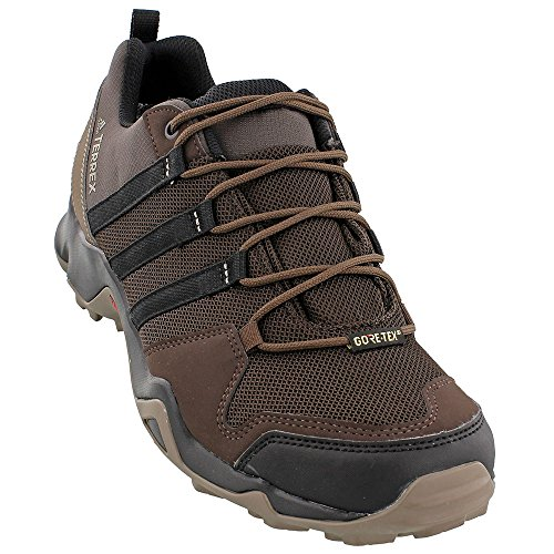 adidas Sport Performance Men's Terrex AX2R Gore-Tex Hiking Sneakers, Brown Textile, 9 M