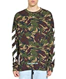 Off-White Men's Omba003s186000129901 Green Cotton Sweatshirt