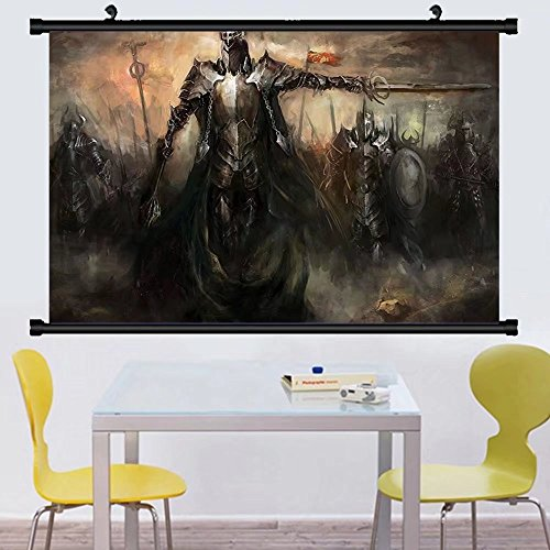 Gzhihine Wall Scroll Fantasy World Decor Wall Hanging Mediev