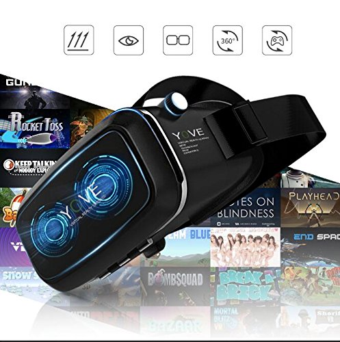 3D VR Headset, Yove 3D Virtual Reality Headset with Adjustable Lens and Strap for iPhone 7 6 6s 5 5s 6splus Samsung S3 Edge Note 4 and 3.5-5.5 inch Smartphone for 3D adult Movies and 3D Games by yove (Image #9)