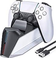 Carregador do controlador PS5, estação de carregamento PS5 para controlador dualsense Playstation 5, atualizaç
