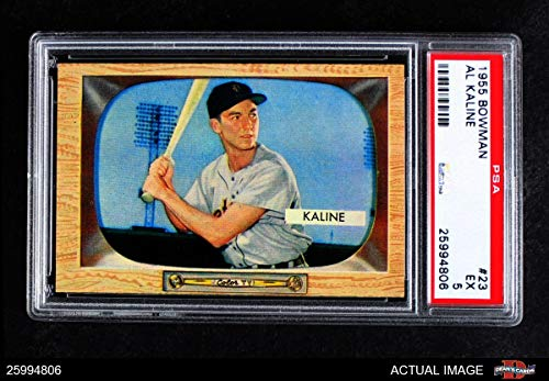 1955 Bowman # 23 Al Kaline Detroit Tigers (Baseball Card) PSA 5 - EX Tigers