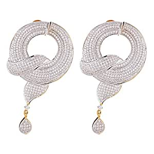 Aurora Women's Alloy Cubic Zirconia Earring