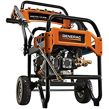 Generac 6564 3,800 PSI 3.6 GPM 302cc OHV Gas Powered Commercial Pressure Washer