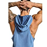 GymRevolution Men's Gym Muscle Long Sleeve Hoodies