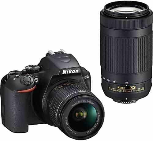 Nikon D3500 DX-Format DSLR Two Lens Kit with AF-P DX NIKKOR 18-55mm f/3.5-5.6G VR & AF-P DX NIKKOR 70-300mm f/4.5-6.3G ED, Black