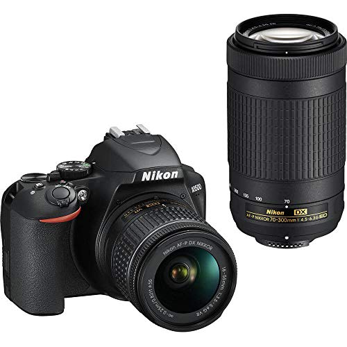 Nikon D3500 DX-Format DSLR Two Lens Kit with AF-P DX Nikkor 18-55mm f/3.5-5.6G VR & AF-P DX Nikkor 70-300mm f/4.5-6.3G…