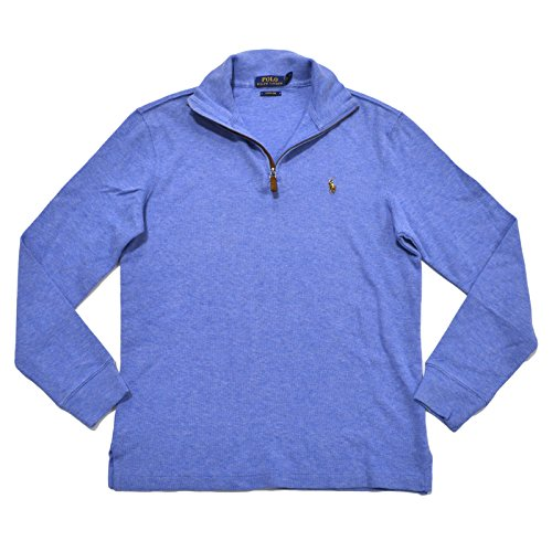 Polo Ralph Lauren Men's Estate Rib Half Zip Sweater, L, Welsh Blue (Half Zip Sweater Blue)