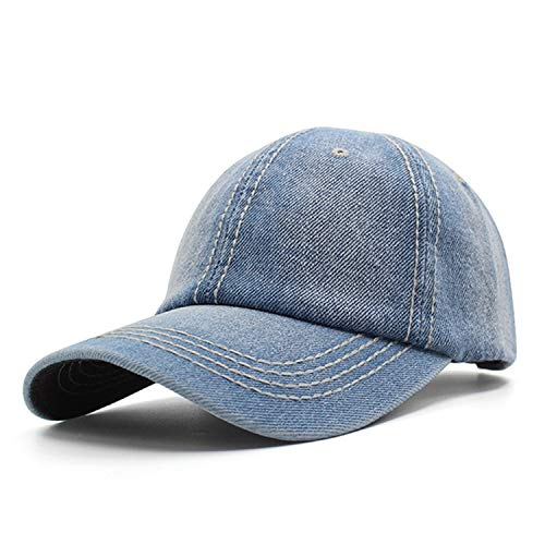 Baseball Cap Hats for Men Snapback Caps Casual Women Vintage Embroidery Casquette Bone Denim Jeanss,Light Jean
