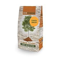 Premium Chaga Mushroom Ginger Powder - 8 oz of Authentic 100% Wild Harvested Canadian Chaga Tea - Superfood