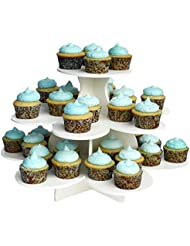 "The Smart Baker 3 Tier Flower Cupcake Tower Stand Holds 48+ Cupcakes ""As Seen on Shark Tank"" Cupcake Stand"
