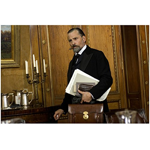 A Dangerous Method 8x10 Photo Viggo Mortensen Carrying Briefcase and Other Papers Cigar in Right Side of Mouth kn