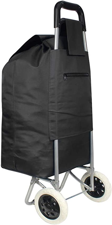 Ariana 2 roues grand fort Shopping Trolley panier grocery Bag Black