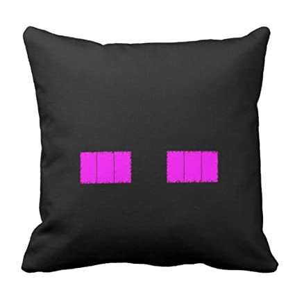Amazoncom Naierkeji Minecraft Enderman Head Grid Pillow