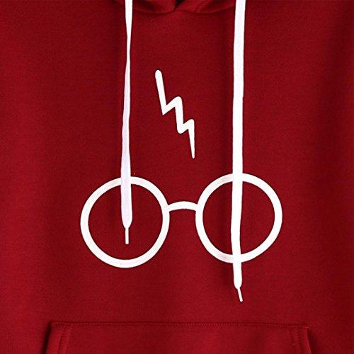 Harry Tumblr Lunghe Gli Overdose Ragazza Rosso Con Felpa Cappuccio Maglia Donna Occhiali Potter z4wgBTnq