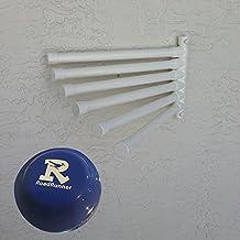 The Original Outdoor Pool Towel Hanging Towel Rack (6 bar, Cool White)