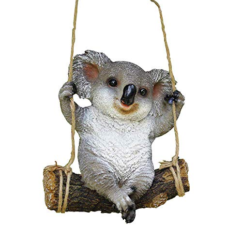 Animal Garden Statue - Cute Swing Koala Bear - Funny Outdoor Sculpture Ornaments Décor - Best Indoor Outdoor Statues Yard Art Figurines for Patio Lawn House  ()