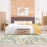 Persian-Rugs Cream 6495 Distressed 8x10 Area Rug