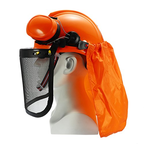 Yingte Chain Saw Forestry Safety Helmet with Ear Defenders,Mesh Visor Earmuffs Face Shield Protection by Yingte (Image #3)