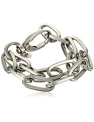 Yochi Double Large Open Link Cuff Bracelet
