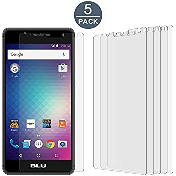 """low-cost [2-Pack] Supershieldz for BLU """"R1 HD"""" Tempered Glass Screen Protector, [Full Screen Coverage] Anti-Scratch, Bubble Free, Lifetime Replacement Warranty (Black)"""